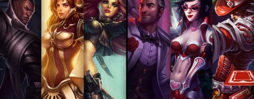 حسم على الأبطال و الأشكال الجديدة للشخصيات للعبة League of Legends