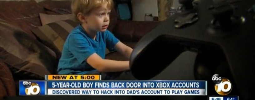 5-year-old Boy discovers Microsoft Xbox Password Bypass vulnerability