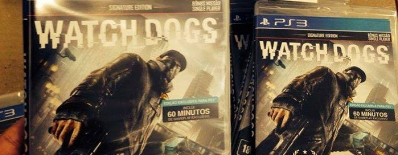 Video shows the cover of the PS3 version of the game Watch Dogs