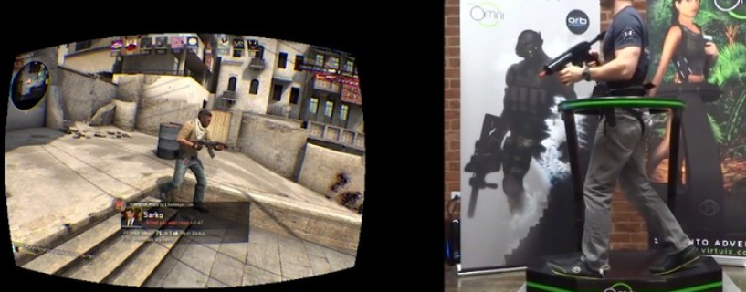 "Video showing a realistic ""Counter Strike"" experience using Virtuix Omni"