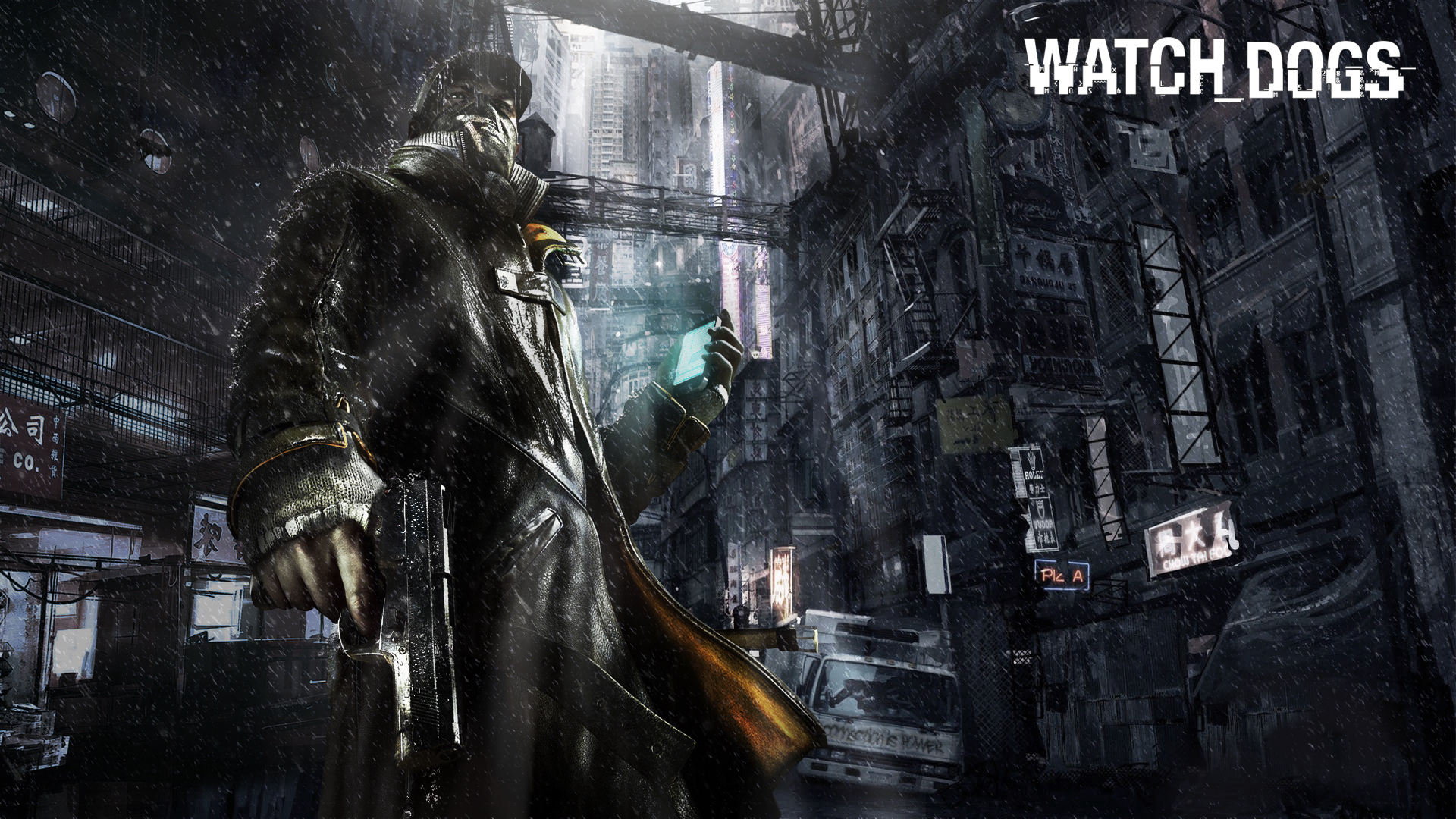 Photo of explains some of the Mission and the graphic of Watch_Dogs