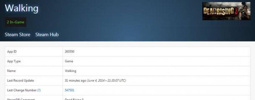 Uncertain news : Dead Rising 3 on Steam