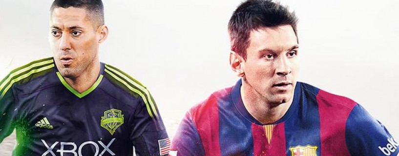 Clint Dempsey and Lionel Messi on the FIFA 15 North America