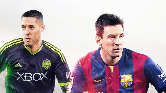Photo of Clint Dempsey و Lionel Messi على غلاف FIFA 15 لأمريكا الشمالية