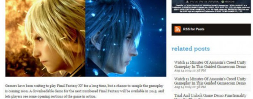 Final Fantasy Type-0 HD owners will be able to try FFXV demo in 2015