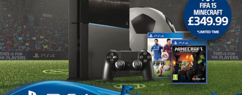 طرح تجميعية جديدة لجهاز PS4 مع لعبة Minecraft و FIFA 15