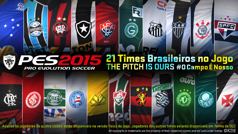 Photo of الأندية البرازيلية قادمة للعبة PES 2015