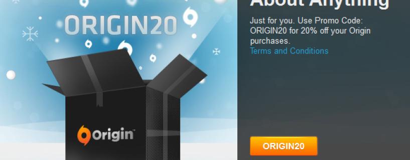 احصل حاليا على تخفيض بنسبة 20% على متجر Origin