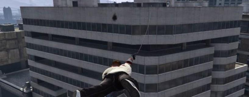تعديل جديد في GTA V للحاسب يضيف ميزة Grappling Hook مشابهة لـ Just Cause