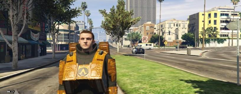 هذا الـMod لنسخة الحاسب الشخصي يدمج ما بين GTA V و Half-Life