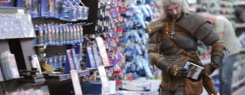 "Watch the ""Witcher"" as he buys a PS4 in this commercial"