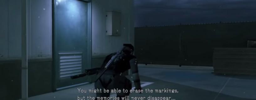 رسالة سرية في MGS V: Ground Zeroes أشارت إلى إزالة اسم Kojima قبل أن نعلم بذلك