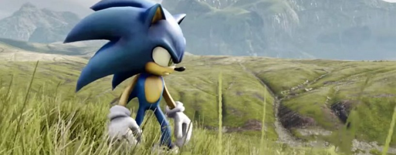 This is what happens when you put Sonic in a realistic field made by Unreal Engine 4