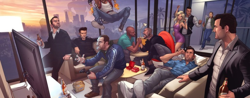 This is how much time it takes to walk across all GTA games