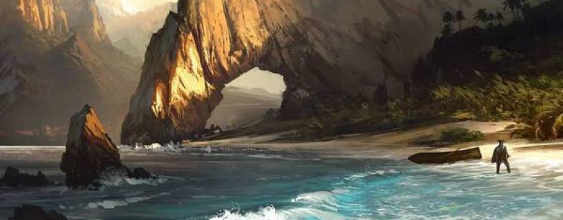 رسمة فنية من لعبة AC Black Flag في عرض القصة للعبة Uncharted 4 !!!