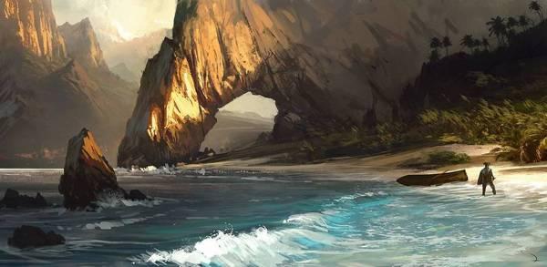 Photo of رسمة فنية من لعبة AC Black Flag في عرض القصة للعبة Uncharted 4 !!!