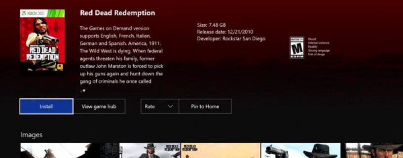 Red Dead Redemption joins the Backward Compatibility list on Xbox One