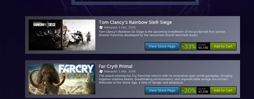 إنطلاق التخفيضات الأسبوعية لألعاب Ubisoft على Steam