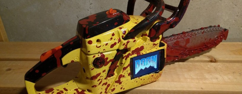 Watch how this guy ran DOOM on a chainsaw