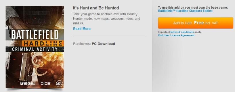 إضافة Criminal Activity للعبة Battlefield Hardline أصبحت مجانية