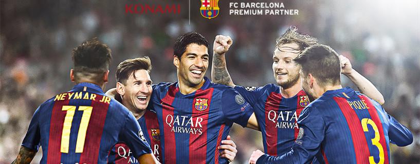 شركة KONAMI توقع شراكة رسمية مع فريق FC Barcelona