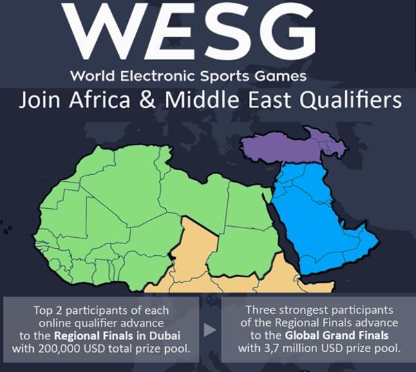 Photo of الاعلان عن تصفيات افريقيا و الشرق الاوسط لبطولة WESG العالمية