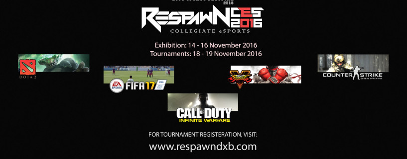 الإعلان عن بطولة Respawn CES 2016 لمنافسات الجامعات في الإمارات العربية المتحدة