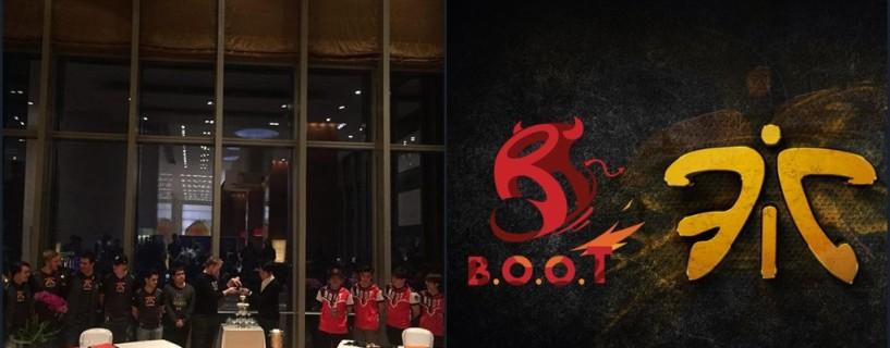 فريق Fnatic يعلن عن تعاقده مع المنظمة الصينية B.O.O.T