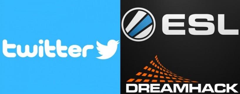 """توقيع صفقة تعاونية جديدة بين ESL، DreamHack وموقع """"تويتر"""""""