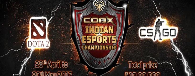 الإعلان عن بطولة COBX Indian Esports Championship للعبة Dota 2 و CS GO