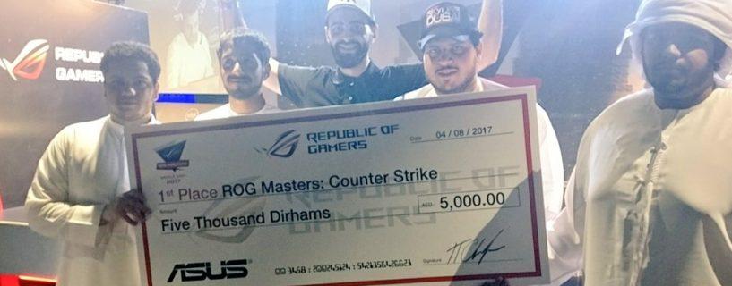 فريق RiskyGaming ينتصر في تصفيات الإمارات لبطولة ROG Masters 2017