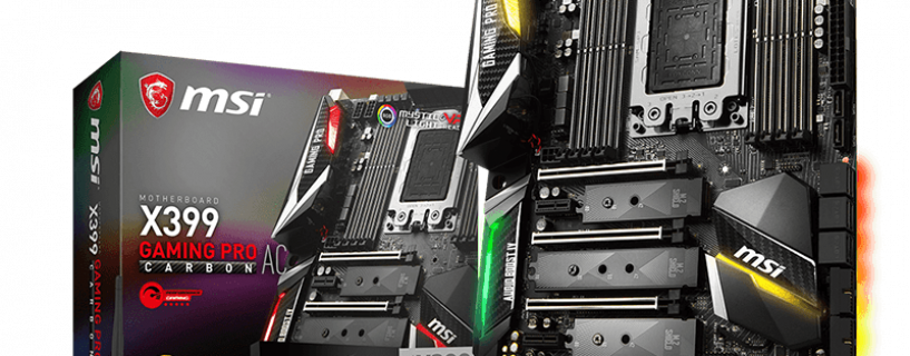MSI readies X399 GAMING PRO CARBON AC to rip threads