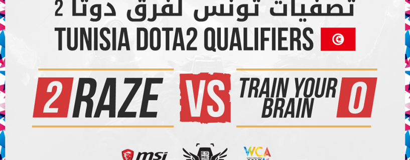 Here are the Tunisian WCA 2017 Dota 2 qualified teams for MENA main event