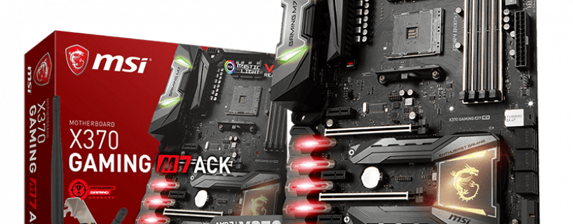 MSI X370 GAMING M7 ACK motherboard un stores now! Flawless supremacy