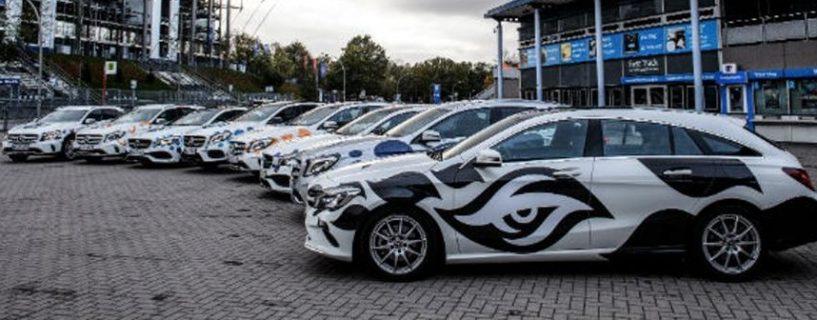 شاهد صور سيارات مرسيدس المخصصة لاستقبال كل فريق مشارك في ESL One Hamburg 2017