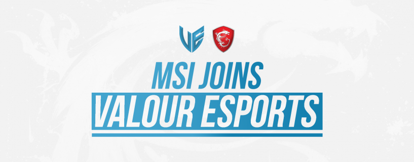 MSI is Announcing to sponsor the Middle East eSport Team, Valour eSports