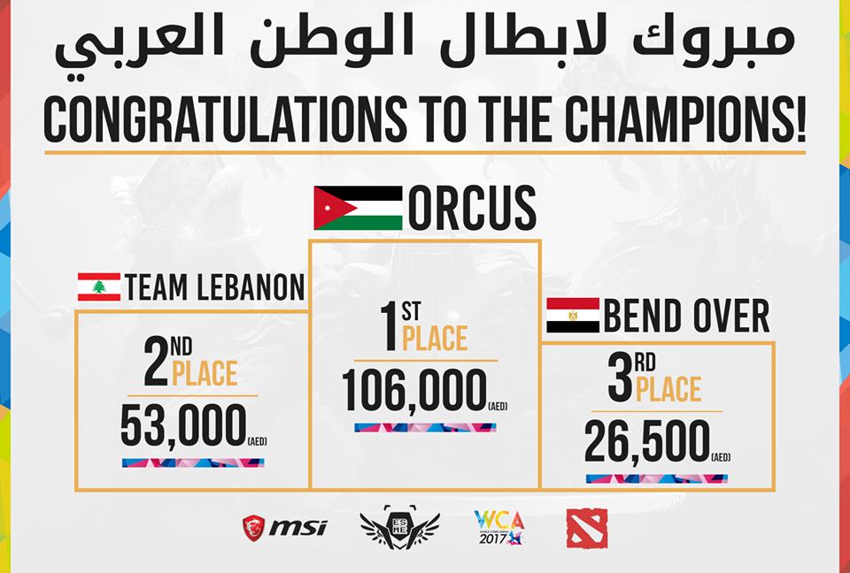 Photo of Orcus wins the WCA 2017 MENA Dota 2 championship