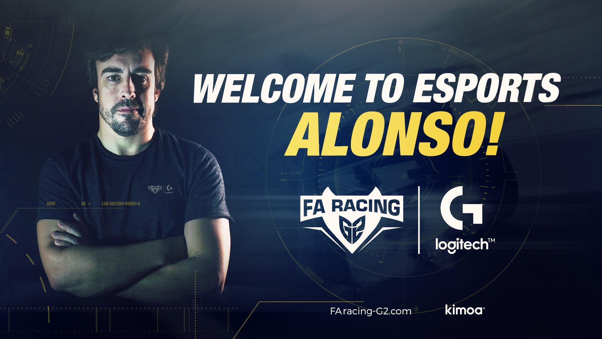 Fernando Alonso FA Racing G2 Logitech esports
