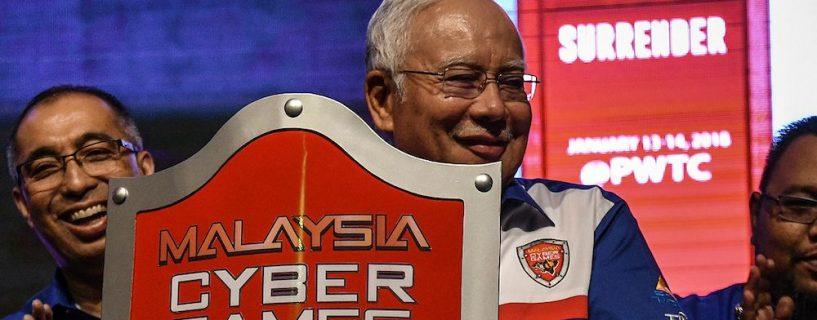 Malaysian prime minster Najib Razak announces his government support of eSports