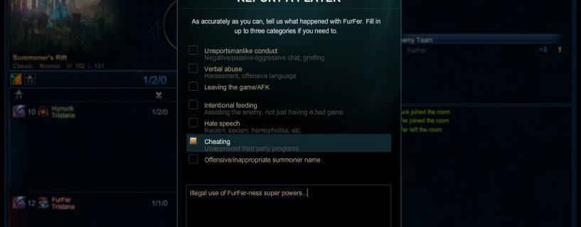 الميزة الجديدة أصبحت متوفرة الآن في نظام تقارير لعبة League of Legends