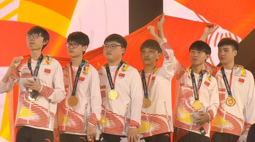 China gold medals asian games 2018