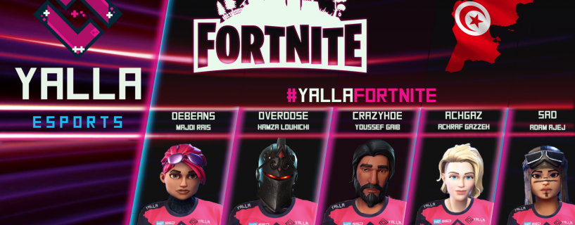 These are the Arab players representing YaLLa Esports in Fortnite