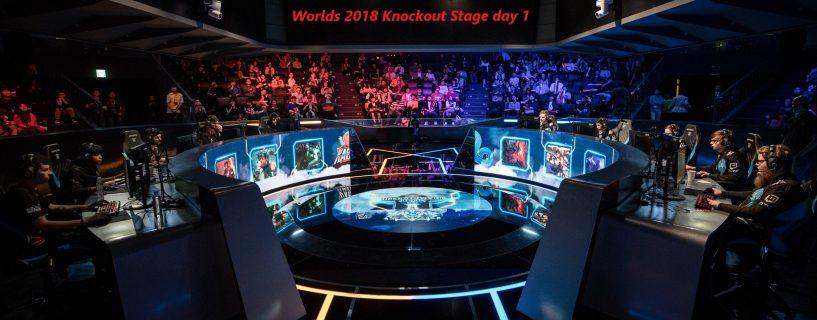 أداء لا تشوبه شائبة لفريق EDG و المزيد خلال اليوم الأول من مرحلة خروج المغلوب Knockout Stage في بطولة العالم Worlds 2018