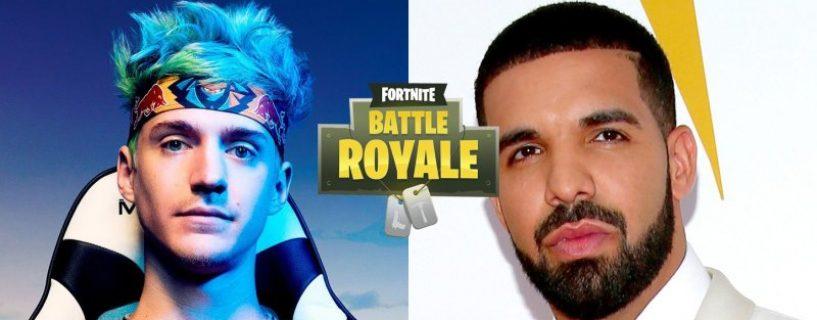 المغني الكندي الشهير Drake يعود للعب Fortnite مع Ninja .. نوعاً ما