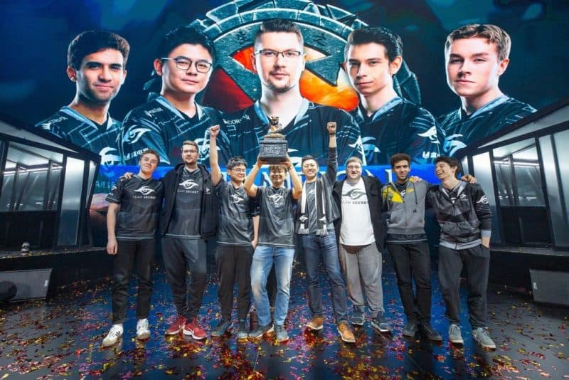 Photo of Team Secret are the champions of DOTA 2 Chongqing Major 2019