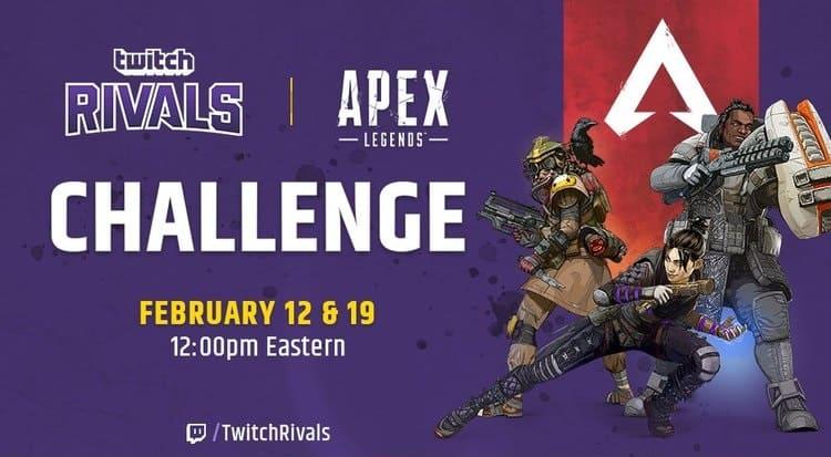 بطولة رياضات إلكترونية ابكس ليجندز Apex legends challenge twitch rivals shroud drdisrespect