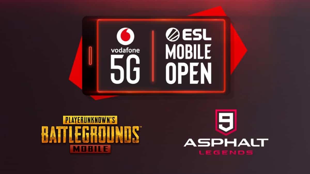 بطولة فودافون ببجي موبايل Vodafone 5G ESL Mobile Open pubg mobile asphalt 9 legends