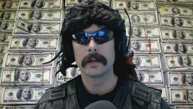 Photo of DrDisrespect compares his current income to his previous job and the gap is massive