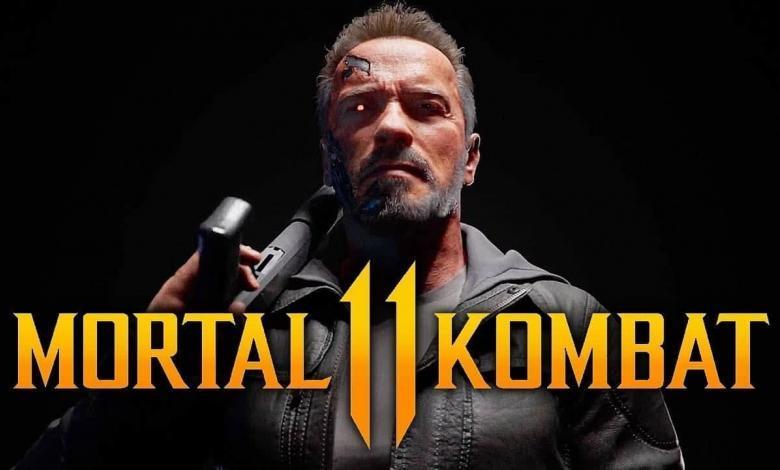 عرض لعب شخصية مورتال كومبات جديدة تيرمينيتر رياضة الكترونية mortal kombat 11 terminator t800 gameplay trailer