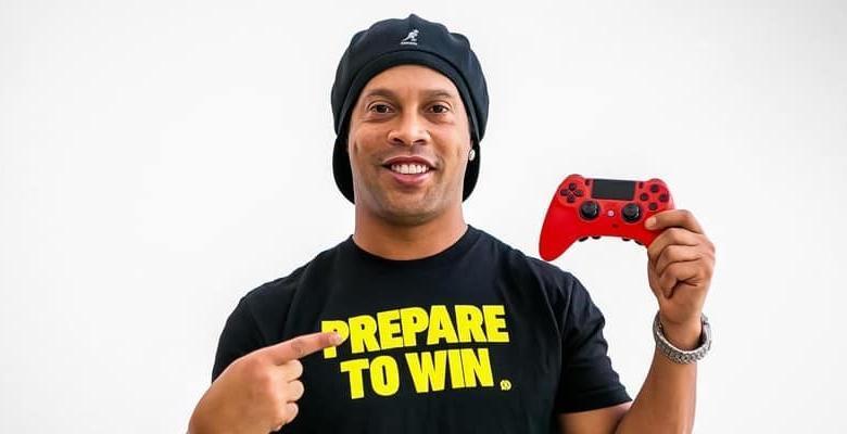 رونالدينهو سفير ألعاب فيديو سكف غيمنغ رياضة الكترونية scuf-gaming ronaldinho video games ambassador r10 esports